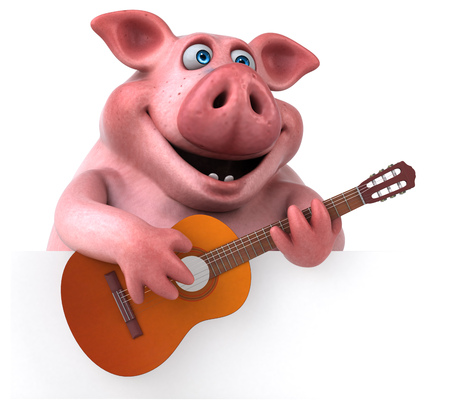 Fun pig - 3D illustratie Stockfoto