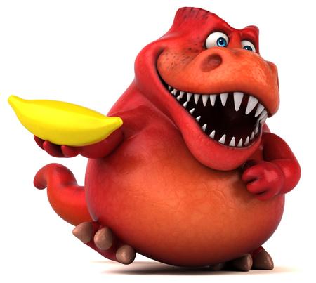 wild strawberry: Fun dinosaur - 3D Illustration