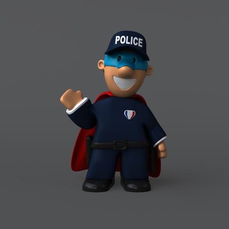 警察 - 3 D イラストレーション
