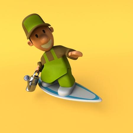Gardener - 3D Illustration Stock fotó