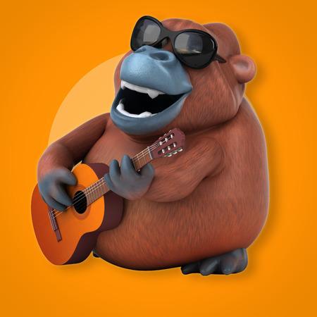 sumatra: Fun orang outan - 3D Illustration