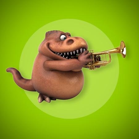 tyrannosaur: Fun Trex - 3D Illustration