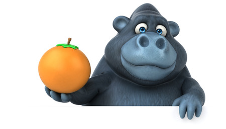 Fun Gorilla - 3D-Illustration Standard-Bild - 84327947