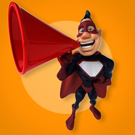 Fun superhero - 3D Illustration Reklamní fotografie - 84327949