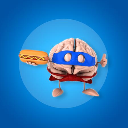 percepción: Brain Foto de archivo