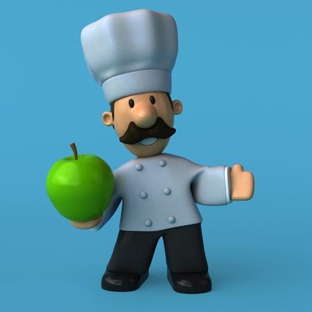 Fun chef - 3D Illustration Stok Fotoğraf - 84349184