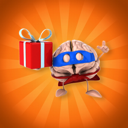 christmas gifts: Brain Stock Photo