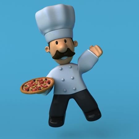 Fun chef - 3D Illustration