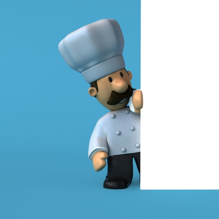 Fun chef - 3D Illustration Stok Fotoğraf - 84352996
