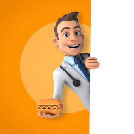 Fun doctor Stock Photo