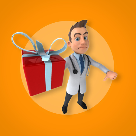 christmas gifts: Fun doctor Stock Photo