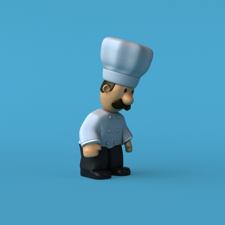 Fun chef - 3D Illustration