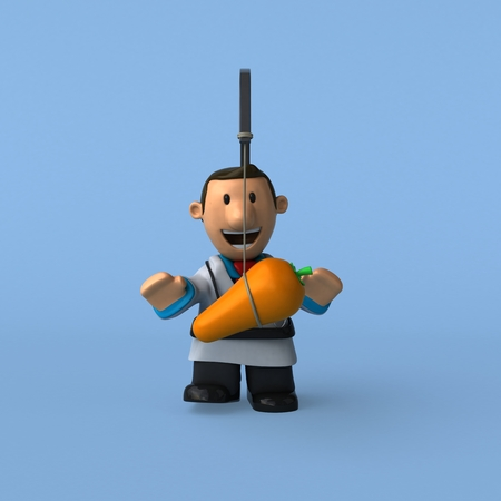 Cartoon doctor - 3D Illustration