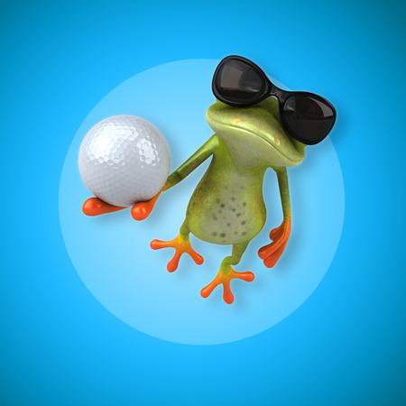 eye ball: Fun frog