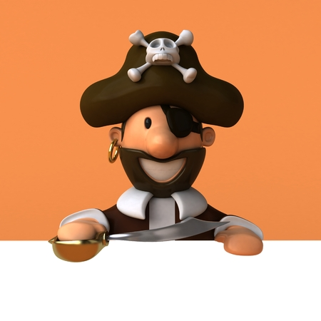 Fun pirate - 3D illustration