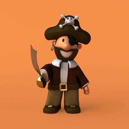 Fun pirate - 3D illustration
