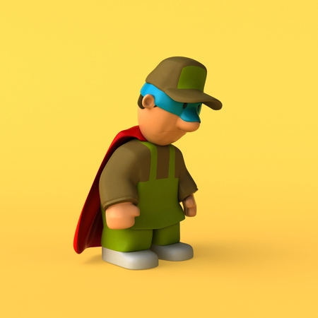 Gardener - 3D Illustration Stock Photo