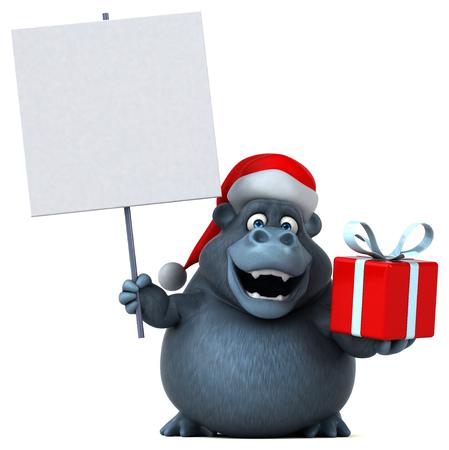 Fun gorilla - 3D Illustration Stock Photo