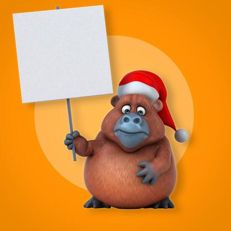 Fun Orangutan - 3D Illustration Stock Illustration - 84328947
