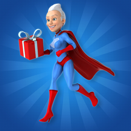 christmas gifts: Super woman Stock Photo