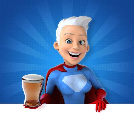 Super woman Stock Photo