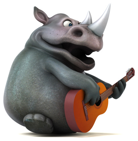 heavy: Fun rhino - 3D Illustration