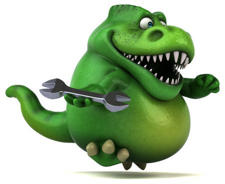 Fun dinosaur - 3D Illustration