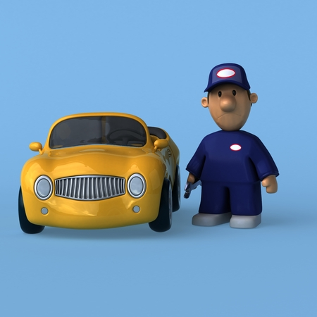 automotive industry: Mechanic - 3D Illustration