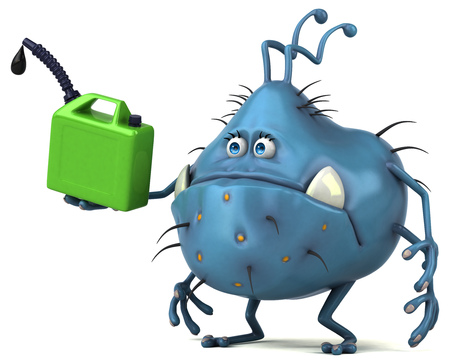 flu virus: Fun germ - 3D Illustration