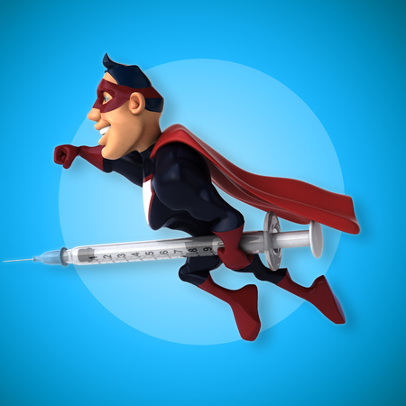 Fun superhero - 3D Illustration Stock Photo