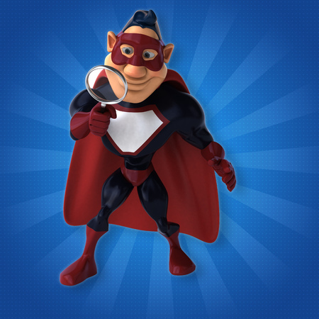 Fun superhero - 3D Illustration Reklamní fotografie - 84426867