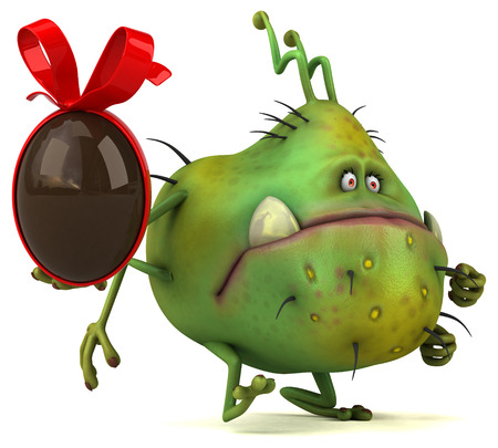 virus bacteria: Fun germ - 3D Illustration