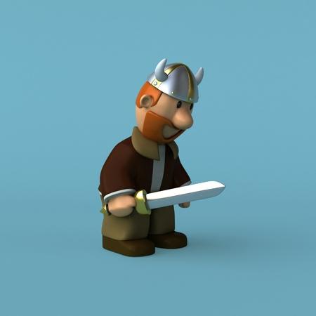 scandinavia: Viking - 3D Illustration Stock Photo