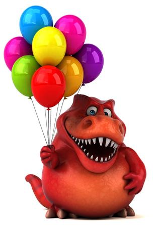 tyrannosaur: Fun dinosaur - 3D Illustration