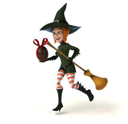 irish easter: Sexy witch - 3D Illustration Stock Photo