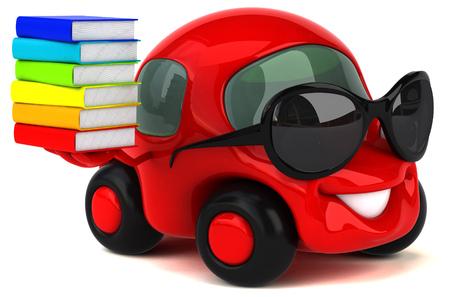 재미있는 차 - 3D 일러스트 레이션 스톡 콘텐츠 - 87200824