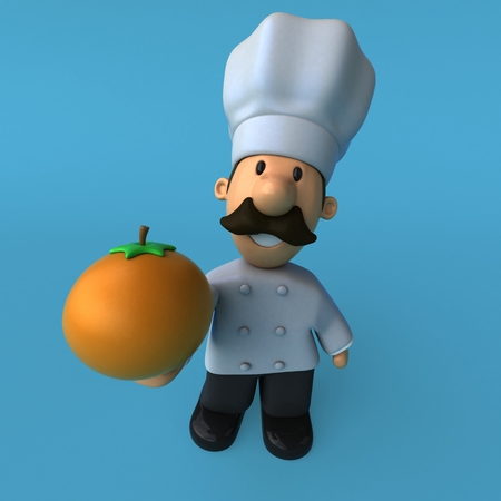 Fun chef - 3D Illustration Stok Fotoğraf - 89324552