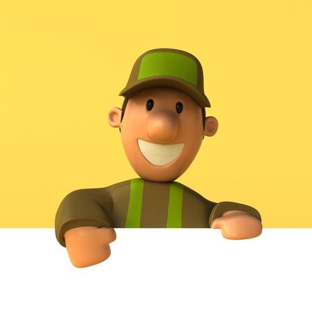 Gardener - 3D Illustration Stock Photo