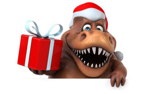 tyrannosaur: Fun dinosaur- 3D Illustration
