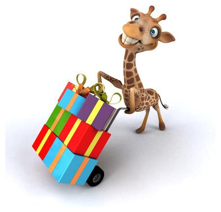 Fun giraffe Stock Photo - 89412517