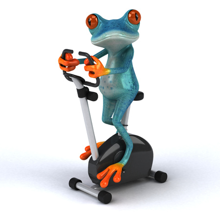 Fun frog - 3D Illustration Stock Illustration - 89415216