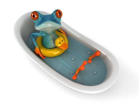 Fun frog - 3D Illustration Stock Illustration - 89557956
