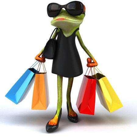 prostituta: Fun frog - 3D Illustration