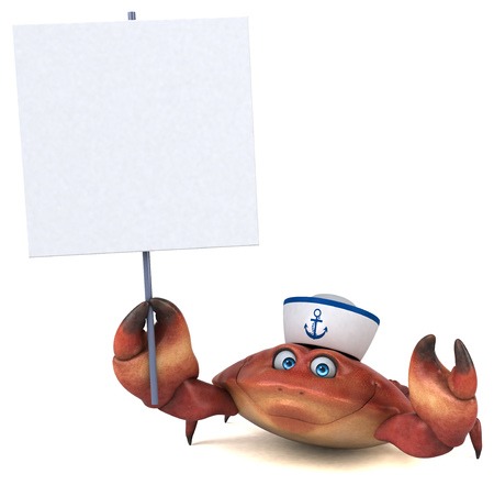 Fun crab - 3D Illustration Stock Photo