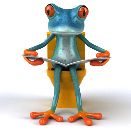 Fun frog - 3D Illustration Stock Illustration - 89558249