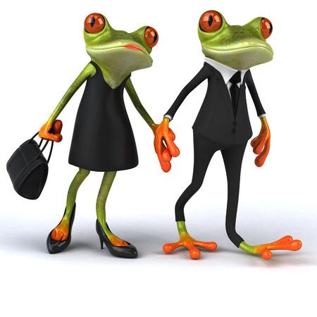 Fun Frosch - 3D-Illustration
