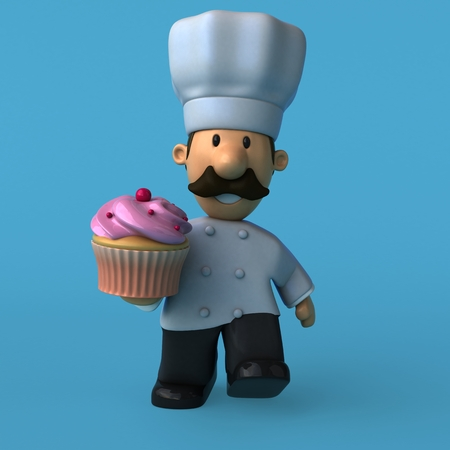 Fun chef - 3D Illustration Stok Fotoğraf - 89344097