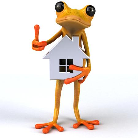 estate: Fun frog- 3D Illustration