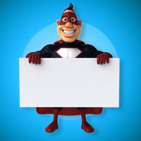 Fun superhero - 3D Illustration Stock Photo