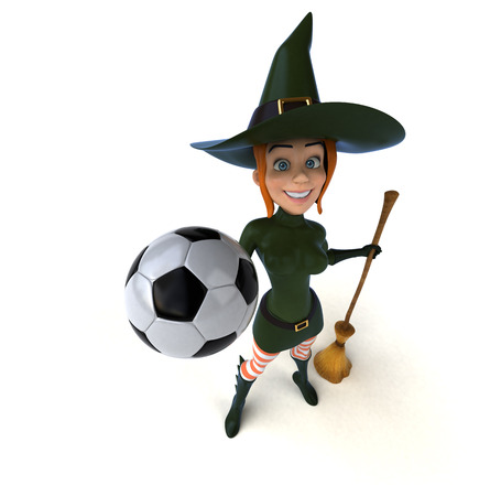 costume ball: Sexy witch - 3D Illustration Stock Photo